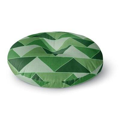 Catherine McDonald Southwest Round Floor Pillow Size: 26 x 26, Color: Green