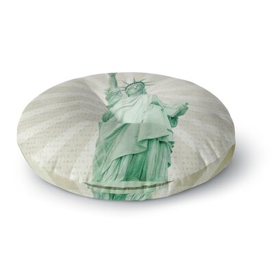 Catherine McDonald The Lady Statue of Liberty Round Floor Pillow Size: 23 x 23