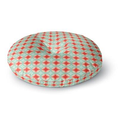 Catherine McDonald Retro Circles Round Floor Pillow Size: 23 x 23