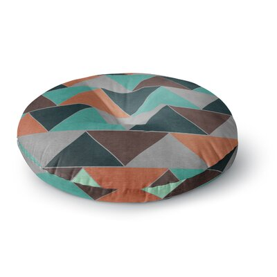 Catherine McDonald Southwest Round Floor Pillow Size: 23 x 23, Color: Orange