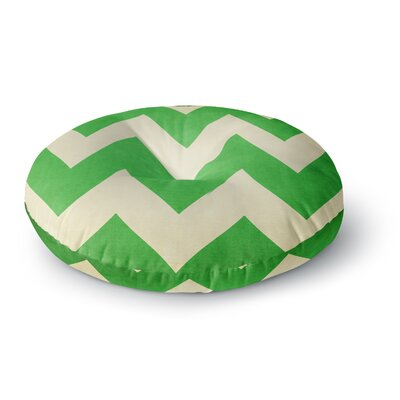 Catherine McDonald Malibu Round Floor Pillow Size: 23 x 23, Color: Green