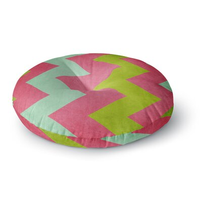 Catherine McDonald Winter Round Floor Pillow Size: 26 x 26, Color: Pink
