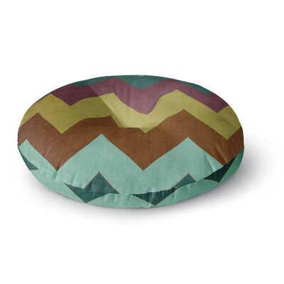 Catherine McDonald Malibu Round Floor Pillow Size: 26 x 26, Color: Brown