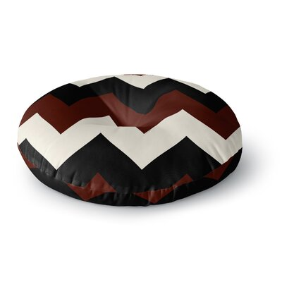 Catherine McDonald Malibu Round Floor Pillow Size: 23 x 23, Color: Black