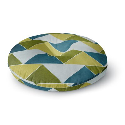 Catherine McDonald Southwest Round Floor Pillow Size: 23 x 23, Color: Aqua