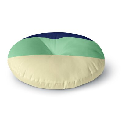 Catherine McDonald South Pacific Round Floor Pillow Size: 23 x 23, Color: Green