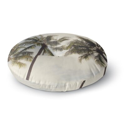 Catherine McDonald Boho Palms Coastal Trees Round Floor Pillow Size: 26 x 26