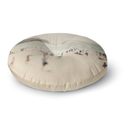Catherine McDonald Bondi Beach Coastal People Round Floor Pillow Size: 26 x 26