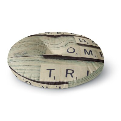 Cristina Mitchell Dreams Wood Round Floor Pillow Size: 26 x 26