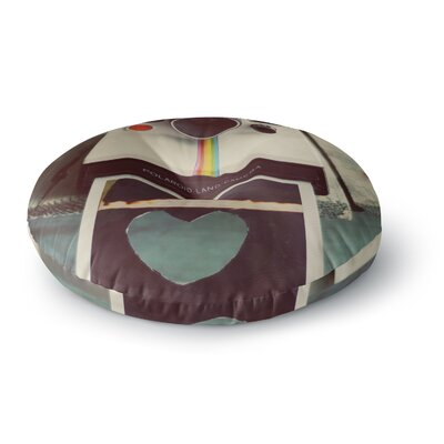 Cristina Mitchell Polaroid Love Camera Round Floor Pillow Size: 26 x 26