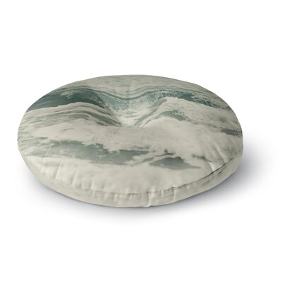 Cristina Mitchell Crashing Waves Ocean Round Floor Pillow Size: 26 x 26