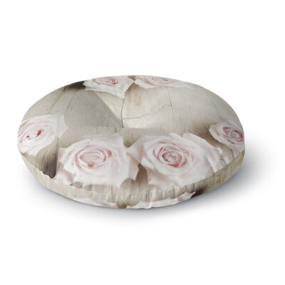 Cristina Mitchell Smile Wood Roses Round Floor Pillow Size: 26 x 26