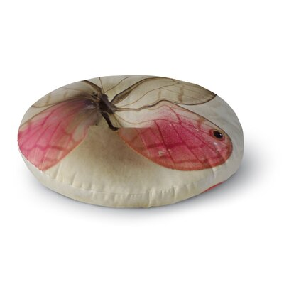 Cristina Mitchell Butterfly Floral Photography Round Floor Pillow Size: 26 x 26