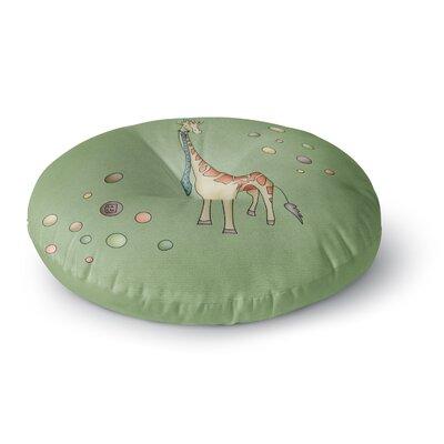 Carina Povarchik Giraffe Round Floor Pillow Size: 26 x 26