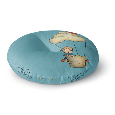 Carina Povarchik Sweet World Round Floor Pillow Size: 23 x 23