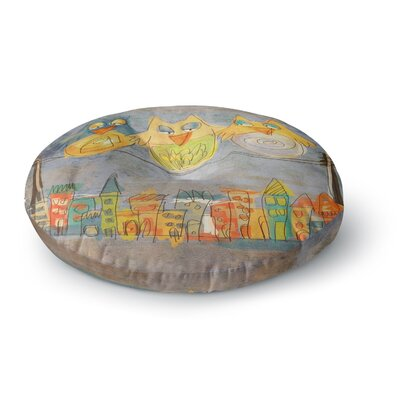 Carina Povarchik Lechuzas Multi-color Round Floor Pillow Size: 26 x 26