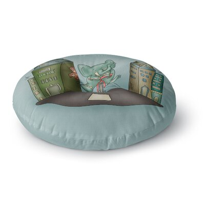 Carina Povarchik Life is Good Elephant Round Floor Pillow Size: 23 x 23