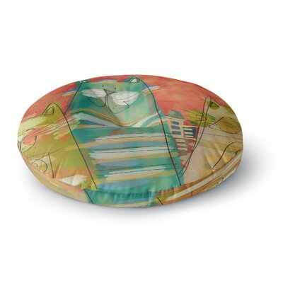 Carina Povarchik Gatos Cat Round Floor Pillow Size: 26 x 26