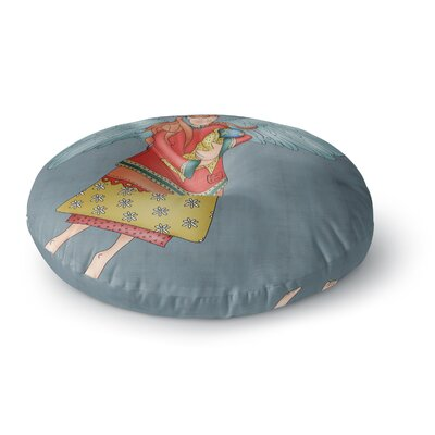 Carina Povarchik Guardian Angel Round Floor Pillow Size: 26 x 26