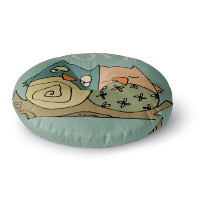 Carina Povarchik Lechuzas Love Owls Round Floor Pillow Size: 26 x 26