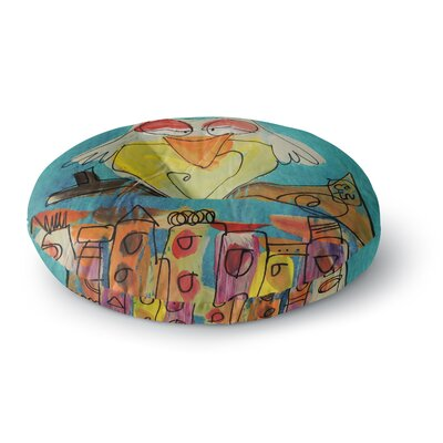 Carina Povarchik Urban Owl Kids Round Floor Pillow Size: 23 x 23