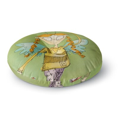 Carina Povarchik Urban Fairy Girl Kids Round Floor Pillow Size: 23 x 23