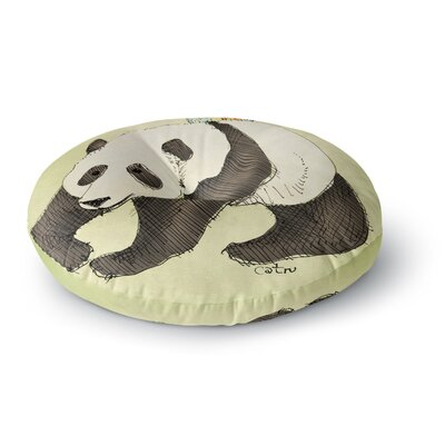 Carina Povarchik Happy Panda Animals Round Floor Pillow Size: 23 x 23