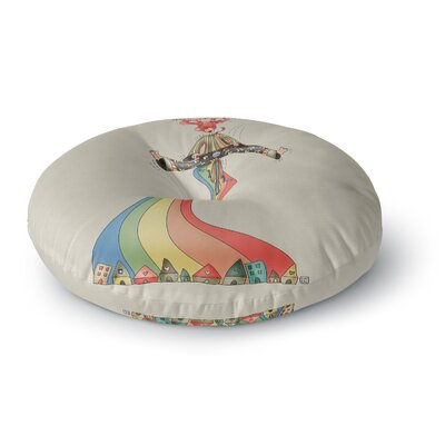 Carina Povarchik Weeeee Fantasy Illustration Round Floor Pillow Size: 26 x 26
