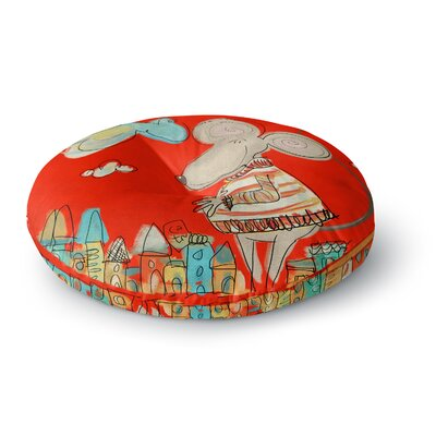 Carina Povarchik Urban Mouse Round Floor Pillow Size: 26 x 26, Color: Red