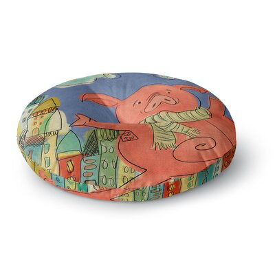 Carina Povarchik Happy Urban Pig Round Floor Pillow Size: 26 x 26