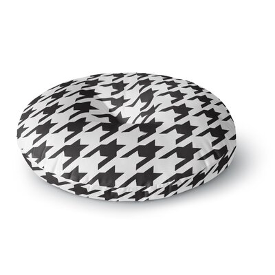 Empire Ruhl Spacey Houndstooth Round Floor Pillow Size: 26 x 26