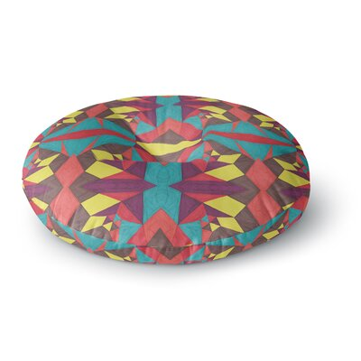 Empire Ruhl Abstract Insects Round Floor Pillow Size: 26 x 26