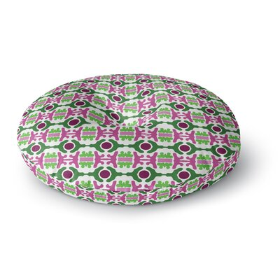 Empire Ruhl Island Dreaming Abstract Round Floor Pillow Size: 23 x 23