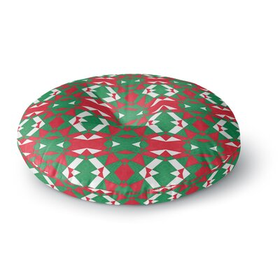 Empire Ruhl Christmas Geo Round Floor Pillow Size: 26 x 26