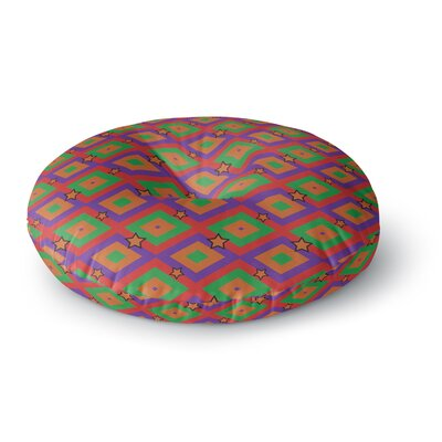 Empire Ruhl Super Stars Geometric Round Floor Pillow Size: 23 x 23