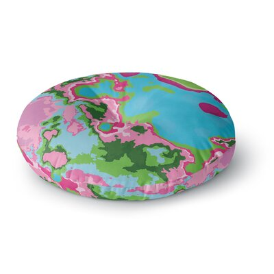 Empire Ruhl Spring Agate Abstract Round Floor Pillow Size: 26 x 26