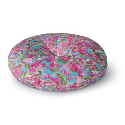 Empire Ruhl Abstract Spring Petals Round Floor Pillow Size: 23 x 23