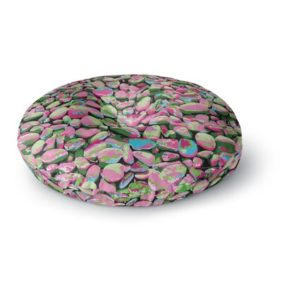 Empire Ruhl Rocks Spring Abstract Round Floor Pillow Size: 23 x 23