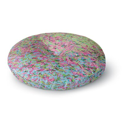 Empire Ruhl Spring Puddle Abstract Digital Round Floor Pillow Size: 23 x 23