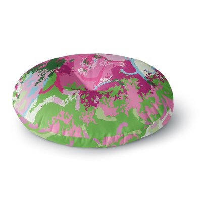 Empire Ruhl Spring Frolic Abstract Round Floor Pillow Size: 26 x 26