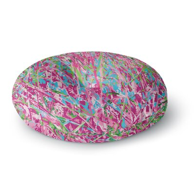 Empire Ruhl Spring Grass Abstract Round Floor Pillow Size: 23 x 23