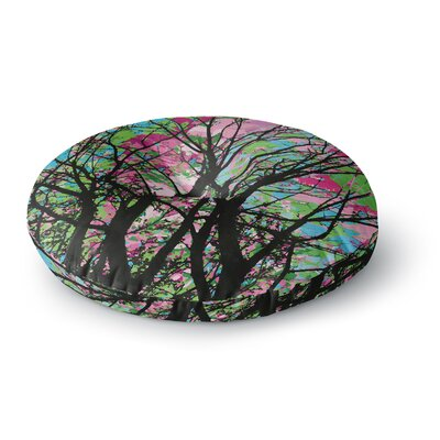 Empire Ruhl Tree of Spring 2 Round Floor Pillow Size: 26 x 26