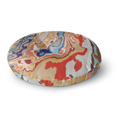 Empire Ruhl Colored Sand Digital Round Floor Pillow Size: 23 x 23