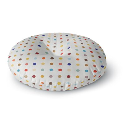 Empire Ruhl Fall Dots Digital Round Floor Pillow Size: 26 x 26