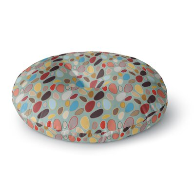 Empire Ruhl Fall Pebbles Digital Round Floor Pillow Size: 23 x 23
