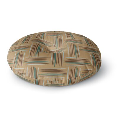 Empire Ruhl Crosshatch Digital Round Floor Pillow Size: 26 x 26, Color: Natural