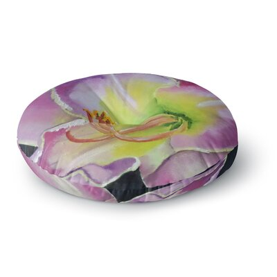 Cathy Rodgers Violet and Lemon Round Floor Pillow Size: 23 x 23