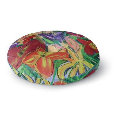 Cathy Rodgers Matisse Styled Lillies Rainbow Flower Round Floor Pillow Size: 26 x 26
