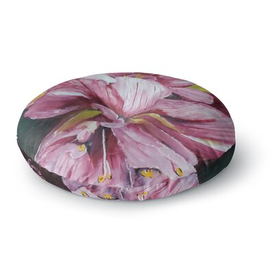 Cathy Rodgers Day Lily Blooms Flower Round Floor Pillow Size: 23 x 23