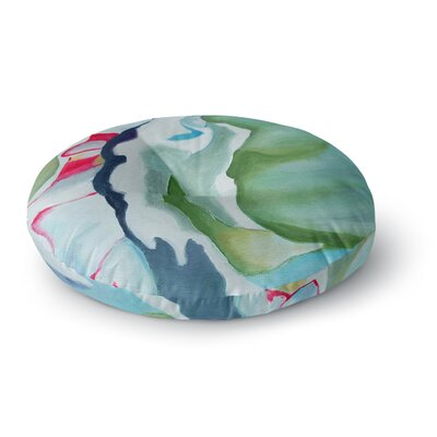 Cathy Rodgers Peony Shadows Flower Round Floor Pillow Size: 26 x 26